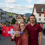 Grosser Bahnhof für Olympiasiegerin Nina Christen